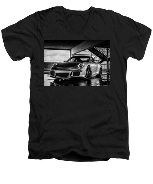 Porsche 911 Gt3 Men's V-Neck T-Shirt by Douglas Pittman