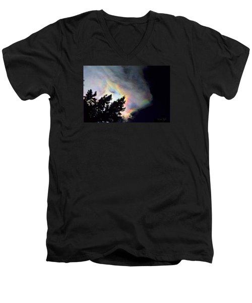 Rainbow Cloud Men's V-Neck T-Shirt