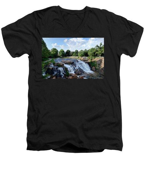 Reedy River Falls Men's V-Neck T-Shirt