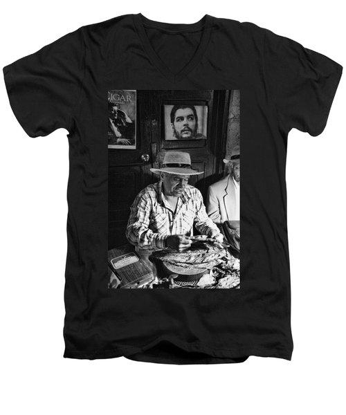 Rolling Cuban Cigars Men's V-Neck T-Shirt by Hugh Smith