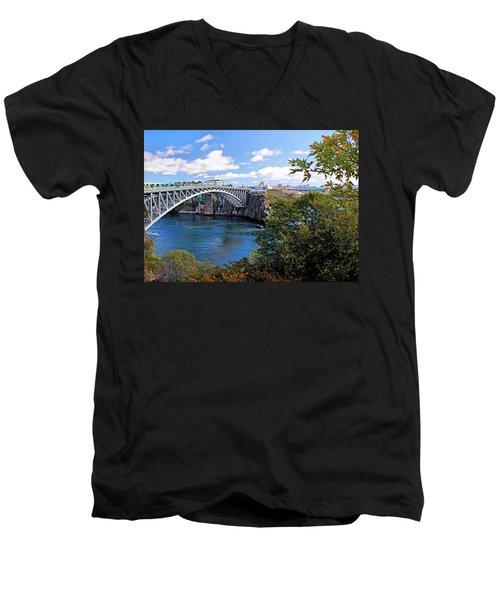 Saint John New Brunswick Men's V-Neck T-Shirt by Kristin Elmquist