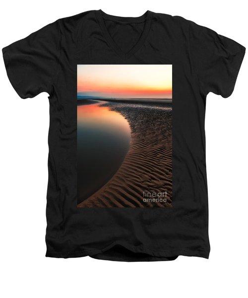 Seascape Sunset Men's V-Neck T-Shirt