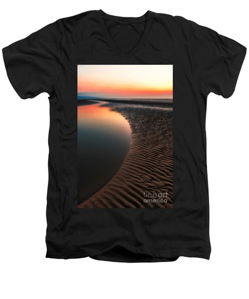 Seascape Sunset Men's V-Neck T-Shirt