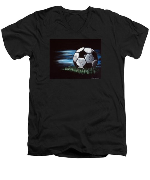Soccer Ball Men's V-Neck T-Shirt