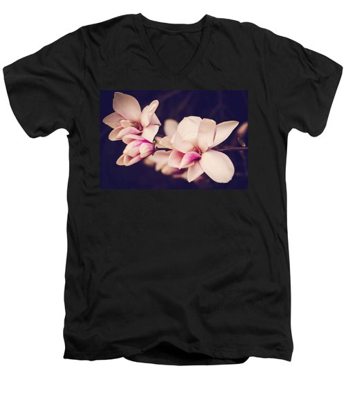 Sweet Magnolia Men's V-Neck T-Shirt by Sara Frank
