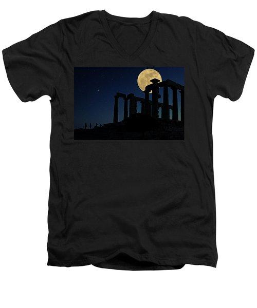 Temple Of Poseidon  Men's V-Neck T-Shirt