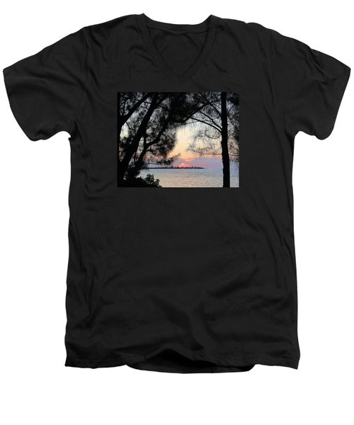 Men's V-Neck T-Shirt featuring the photograph Tequila Sunrise by Amar Sheow