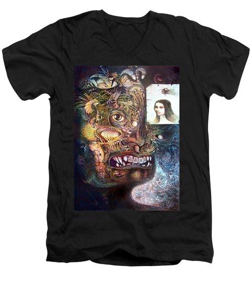 The Beast Of Babylon Men's V-Neck T-Shirt by Otto Rapp