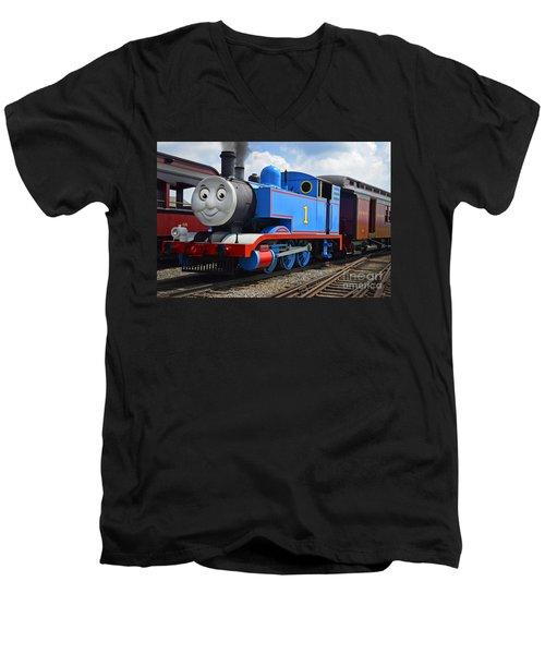 Thomas The Engine Men's V-Neck T-Shirt