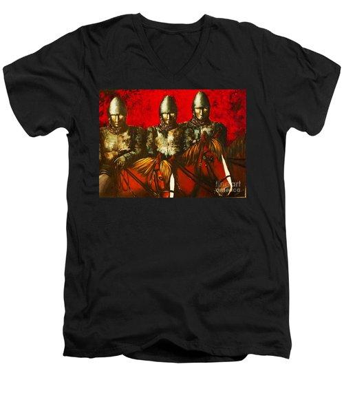 Three Knights Men's V-Neck T-Shirt