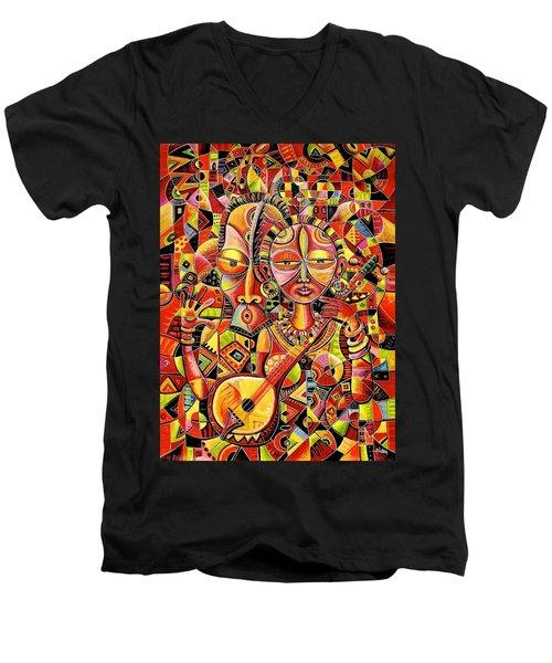Together In Love Men's V-Neck T-Shirt