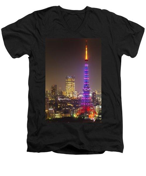 Tokyo Tower - Tokyo - Japan Men's V-Neck T-Shirt