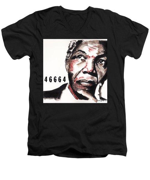 Ubuntu.  Men's V-Neck T-Shirt