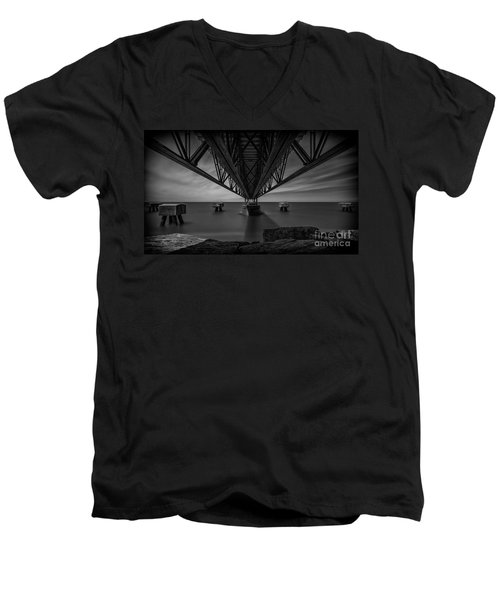Under The Pier Men's V-Neck T-Shirt by James Dean