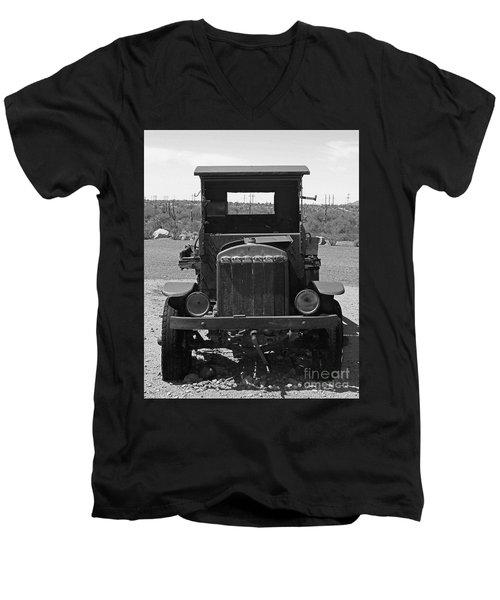 Vintage Stare Down Men's V-Neck T-Shirt
