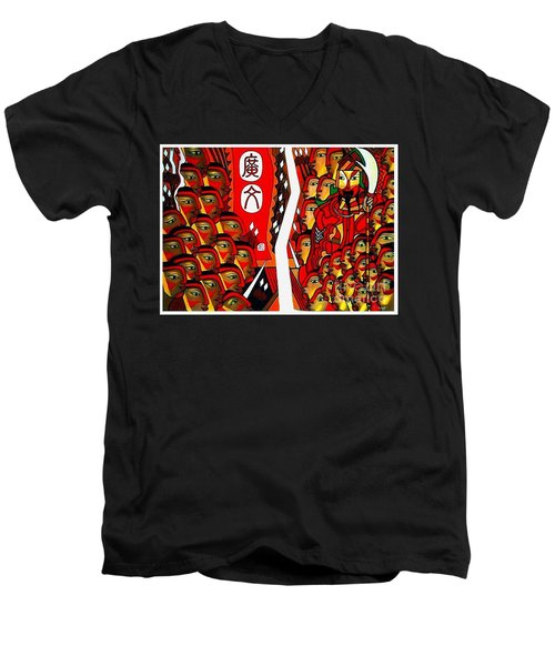 Warriors  Men's V-Neck T-Shirt