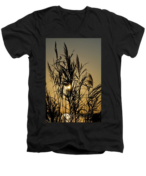 Men's V-Neck T-Shirt featuring the photograph Whalehead Sunset Obx #3 by Greg Reed