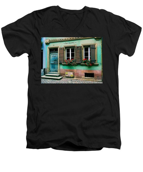 Men's V-Neck T-Shirt featuring the photograph Windows And Doors 6 by Maria Huntley