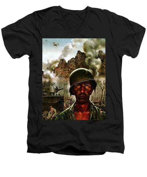 2000 Yard Stare Men's V-Neck T-Shirt