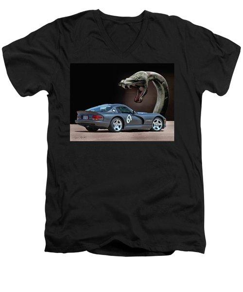 2002 Dodge Viper Men's V-Neck T-Shirt