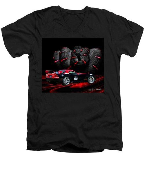 2010 Dodge Viper Men's V-Neck T-Shirt