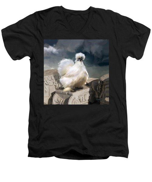 21. Silkie Akropolis Men's V-Neck T-Shirt