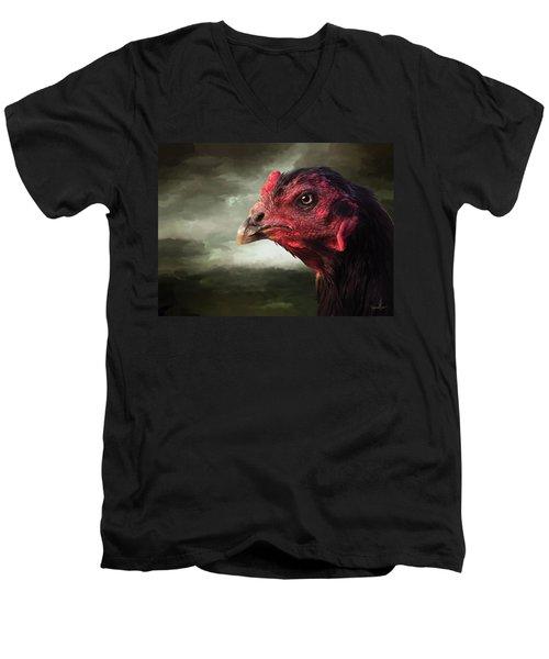 22. Game Hen Men's V-Neck T-Shirt