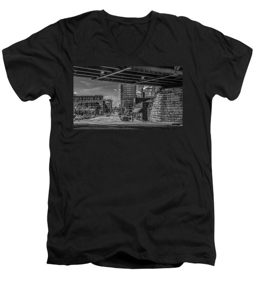 Men's V-Neck T-Shirt featuring the photograph 2nd Street by Ray Congrove