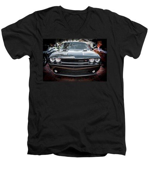 2013 Dodge Challenger  Men's V-Neck T-Shirt