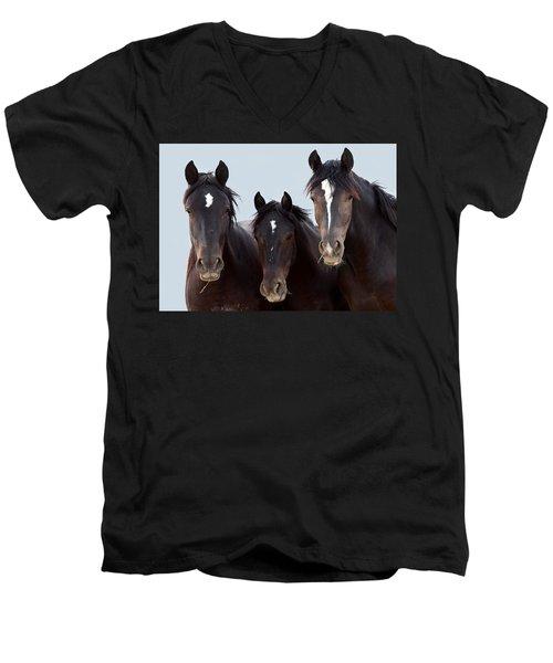 3 Amigos Wild Mustang Men's V-Neck T-Shirt