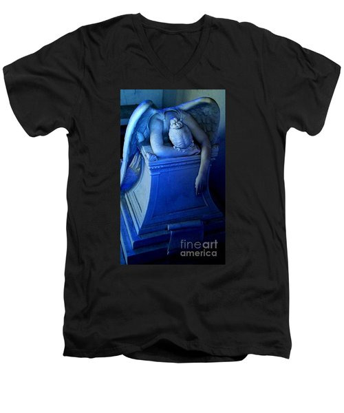 Men's V-Neck T-Shirt featuring the photograph Angelic Sorrow by Michael Hoard