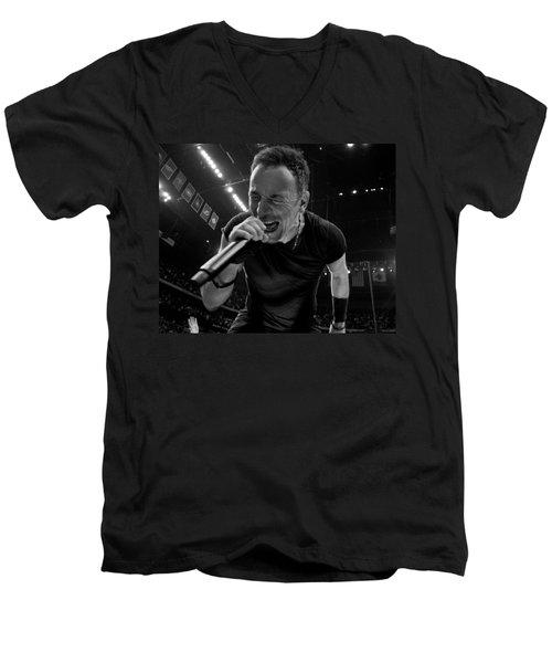 Bruce Springsteen Men's V-Neck T-Shirt
