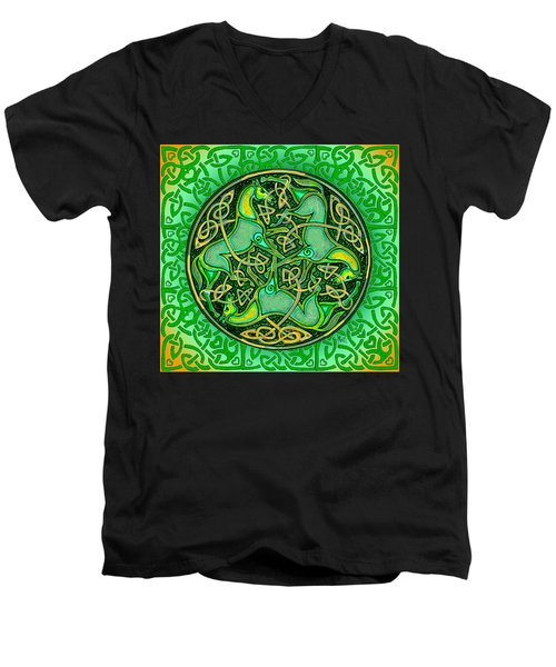 3 Celtic Irish Horses Men's V-Neck T-Shirt