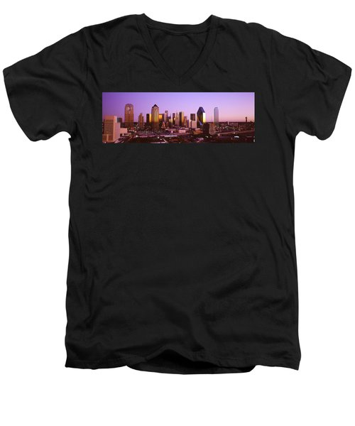 Dallas, Texas, Usa Men's V-Neck T-Shirt by Panoramic Images