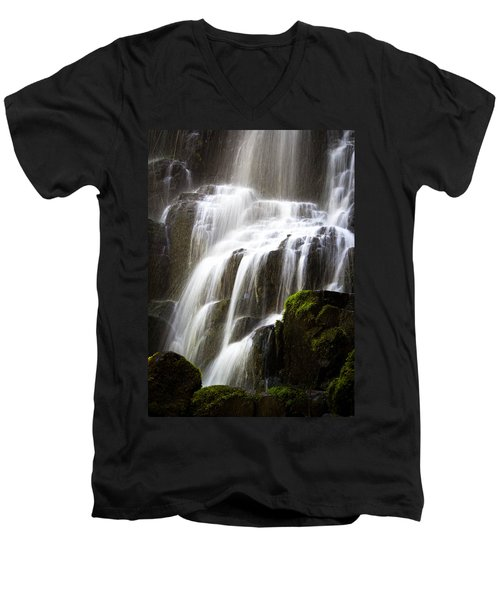 Fairy Falls Men's V-Neck T-Shirt by Patricia Babbitt