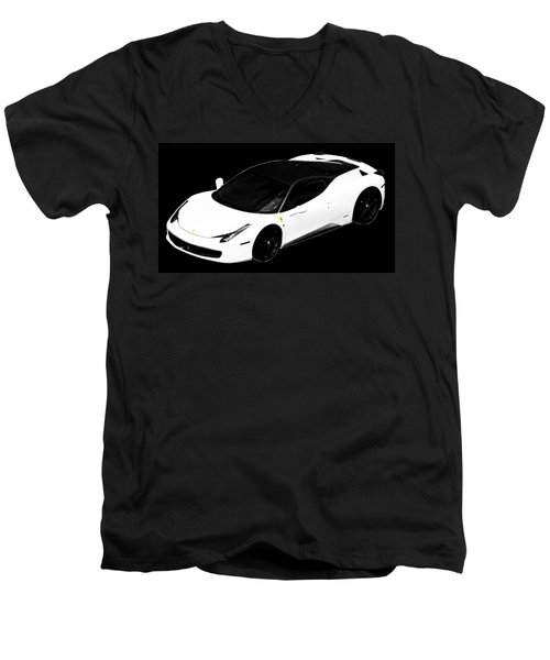 Men's V-Neck T-Shirt featuring the photograph Ferrari by J Anthony