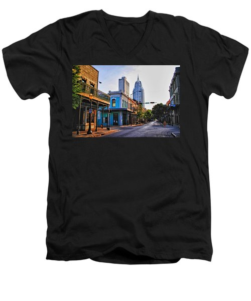 3 Georges Men's V-Neck T-Shirt by Michael Thomas