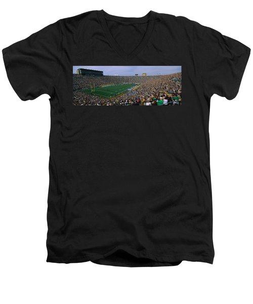 High Angle View Of A Football Stadium Men's V-Neck T-Shirt