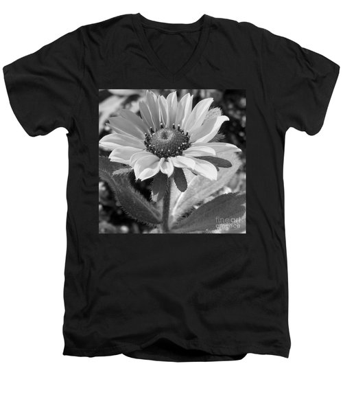 Men's V-Neck T-Shirt featuring the photograph Just A Flower by Janice Westerberg