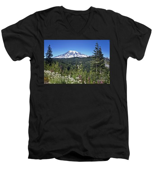 Mount Ranier Men's V-Neck T-Shirt