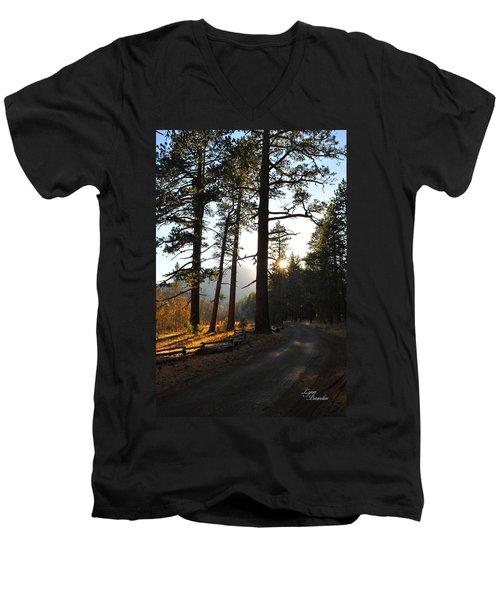 Mountain Road Men's V-Neck T-Shirt