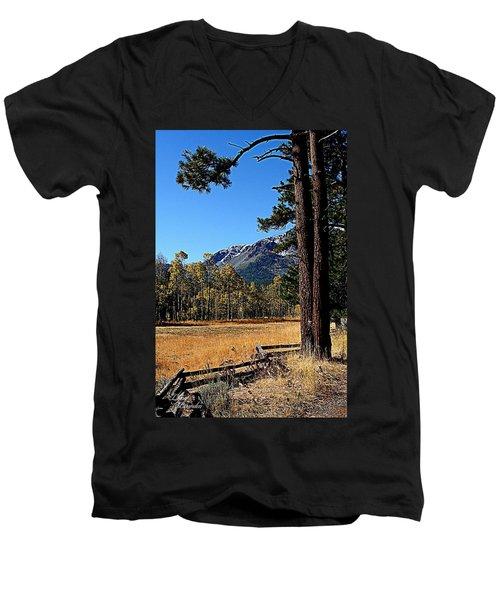 Split Rail Fence Men's V-Neck T-Shirt