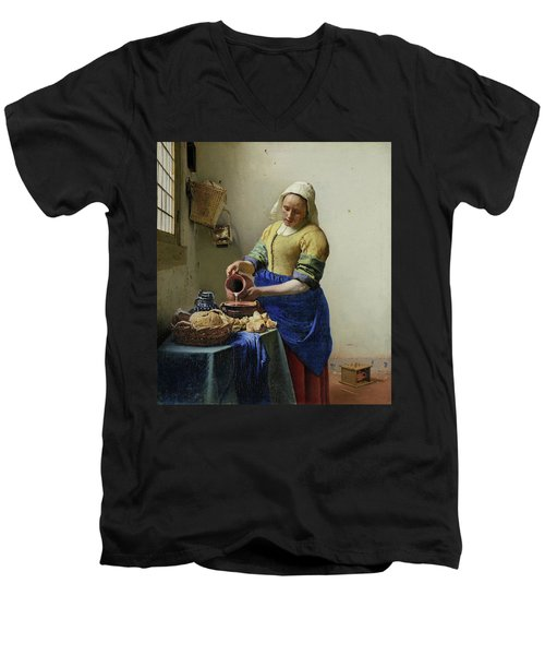 The Milkmaid  Men's V-Neck T-Shirt