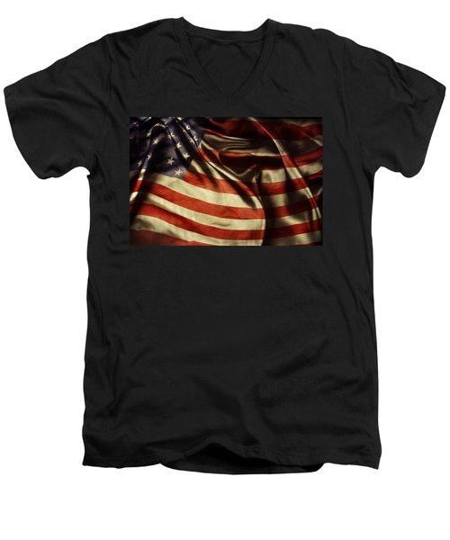 American Flag 51 Men's V-Neck T-Shirt