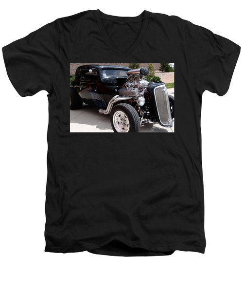34 Custom Chevy Men's V-Neck T-Shirt