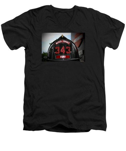 343 Men's V-Neck T-Shirt by Susan  McMenamin