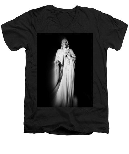 Views From Inside St Entienne Du Mont Church In Paris France Men's V-Neck T-Shirt by Richard Rosenshein
