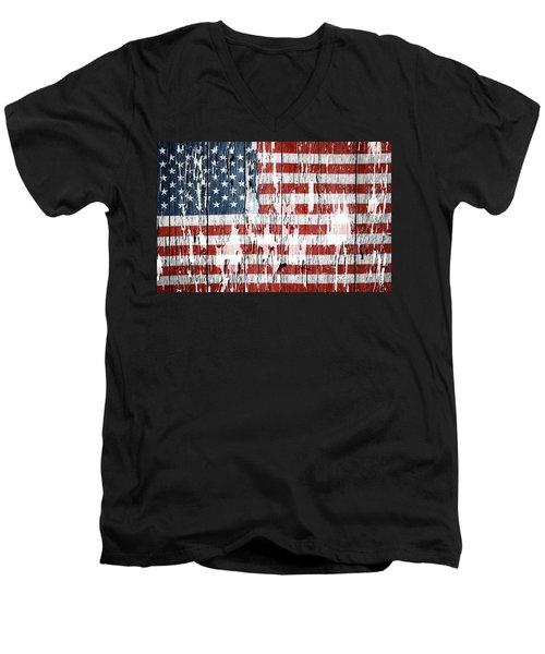American Flag 49 Men's V-Neck T-Shirt