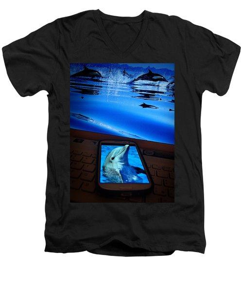 3d Phone... Men's V-Neck T-Shirt