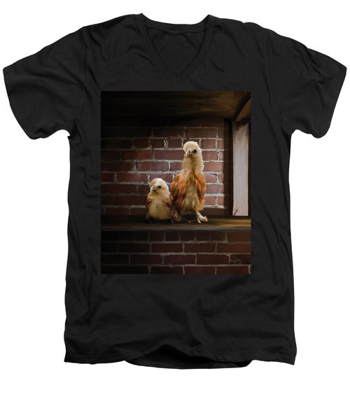 4. Brick Chicks Men's V-Neck T-Shirt